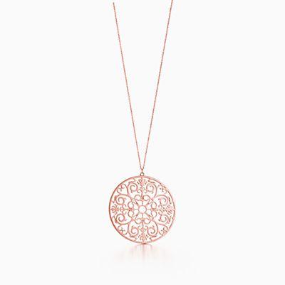 Tiffany enchant necklaces pendants tiffany co tiffany enchant round pendant in rubedo metal medium aloadofball Gallery