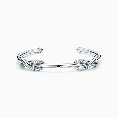 Tiffany Infinity double cuff in sterling silver and 18k rose gold, small Tiffany & Co.