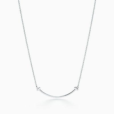 Pendente Smile Tiffany T em prata de lei, mini. 016767453b