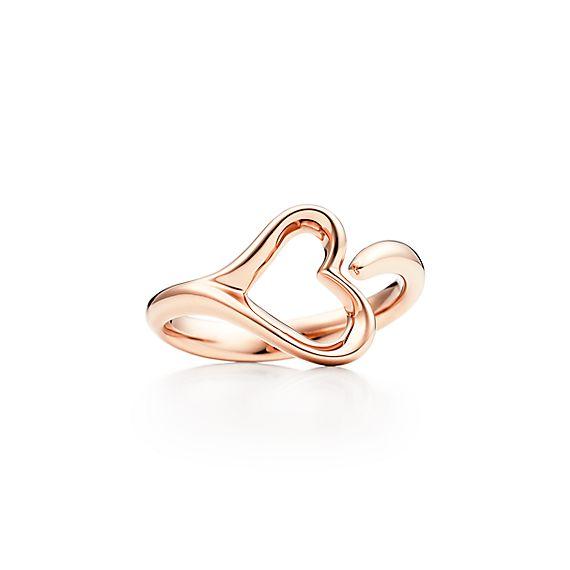 Elsa Peretti Open Heart ring in 18k rose gold small