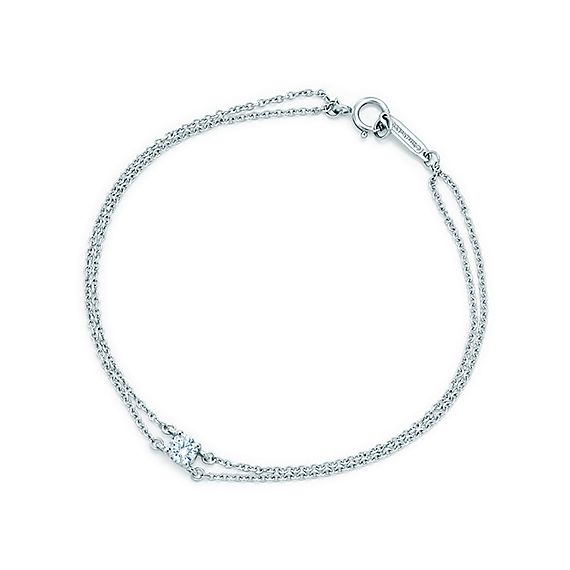 Tiffany solitaire diamond bracelet in platinum