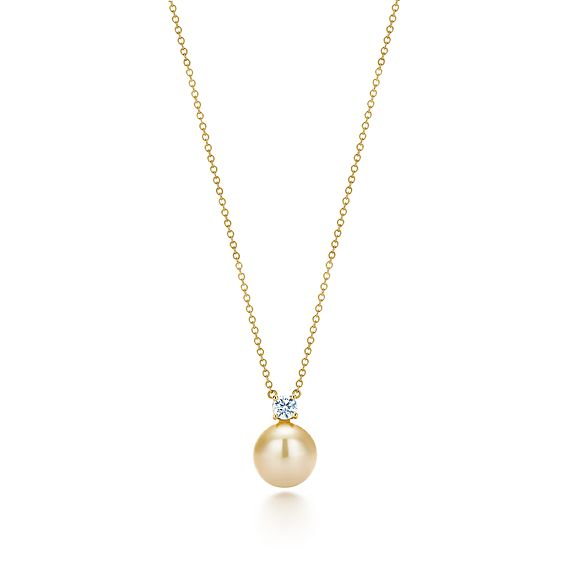 pendant necklace south sea delilah pearls diamond golden pearl lrg white lariat br