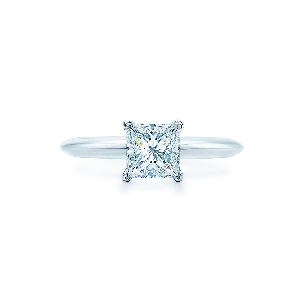 Огранка «принцесса» Кольца для помолвки   Tiffany   Co. cda4c0da1ec