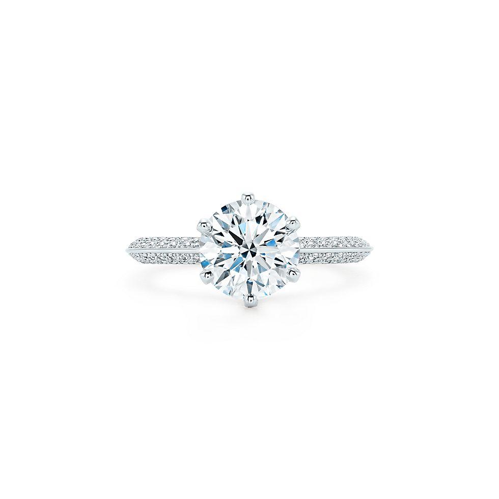 Pavé Tiffany® Setting Кольца для помолвки   Tiffany   Co. 6aea18f15c9