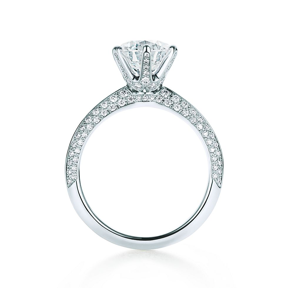 engagement french leg basket enr a diammond halo cut in princess style pave pav ring white hidden rings diamond
