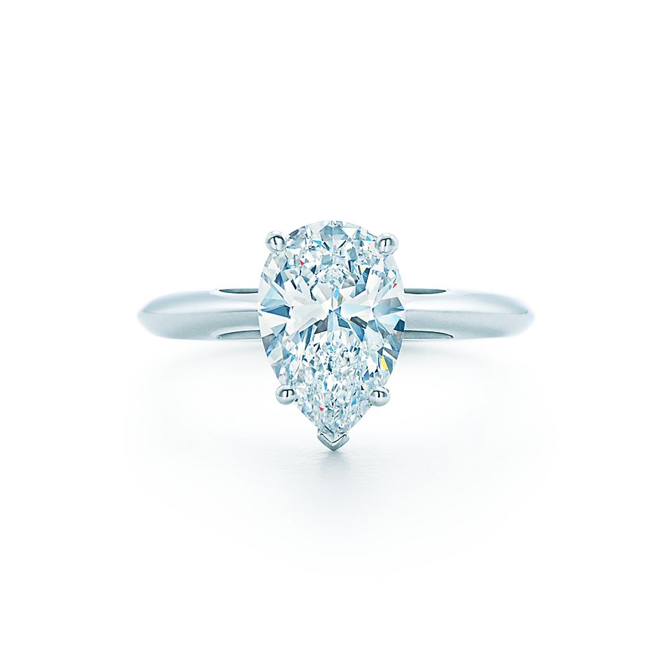 shape pear tiffany co diamond shaped rings engagement
