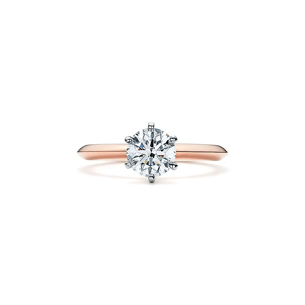 The Tiffany Setting 18k Rose Gold Diamond Engagement Rings