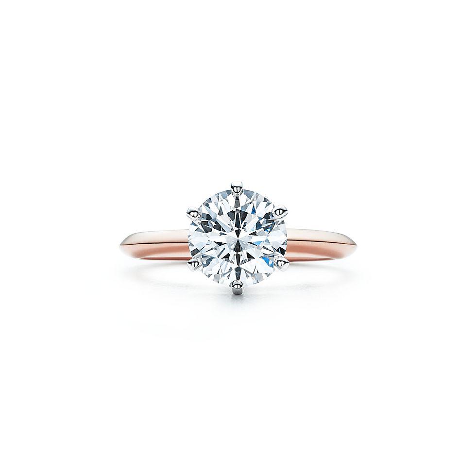 The Tiffany Setting 18k Rose Gold Verlobungsringe Tiffany Co