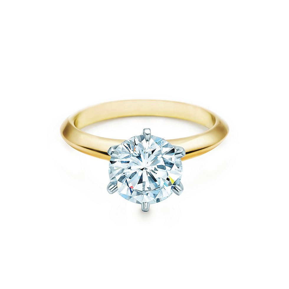 The Tiffany Setting 18K Yellow Gold Engagement Rings Tiffany Co