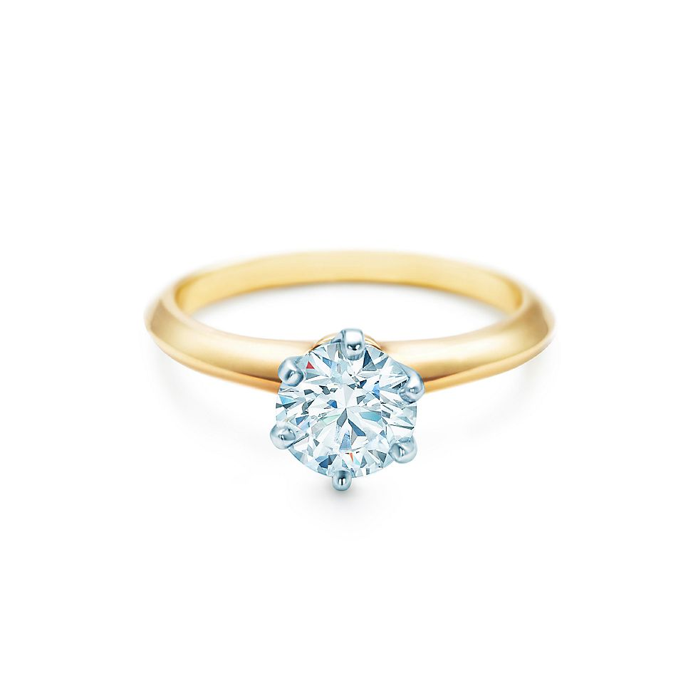 The Tiffany Setting 18k Yellow Gold Diamond Engagement Rings Co