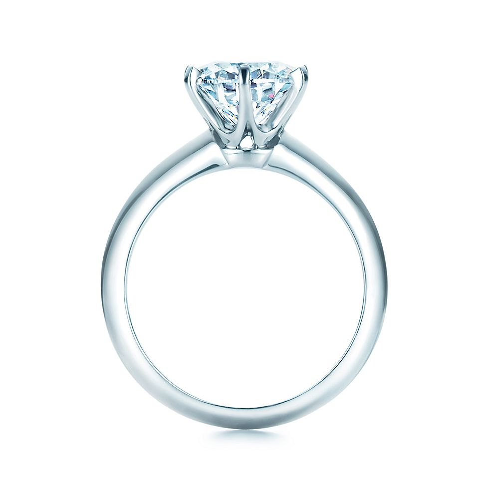 engagement three setting tulip with rings low stone profile ring