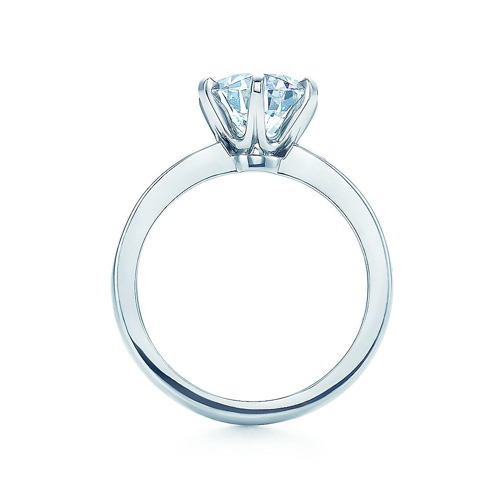 solitaire product ring setting abelini prong engagement diamond round rings