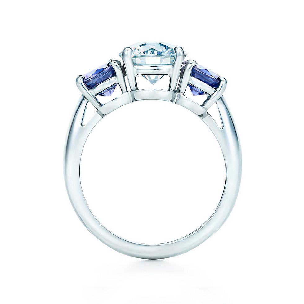 Three Stone Sapphire Engagement Rings Tiffany Co