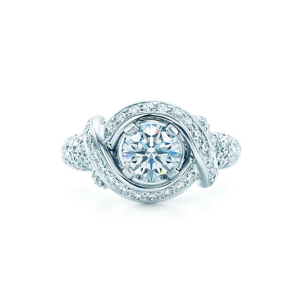 Tiffany Co Schlumberger En Ement Ring With Diamond Band