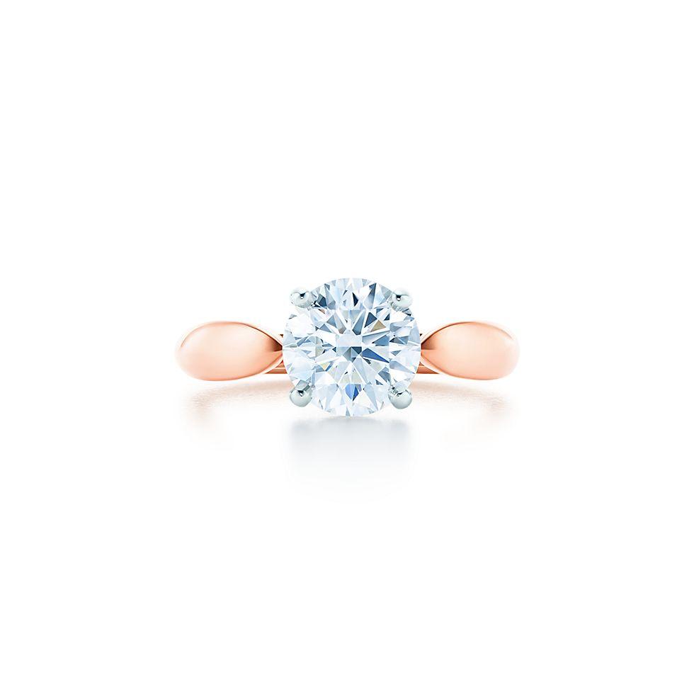 Tiffany Bague D'harmonie En Or Rose 18 Carats Avec Un Diamant Brillant Rond - Taille 6 1/2 Tiffany & Co. JZJr4qF