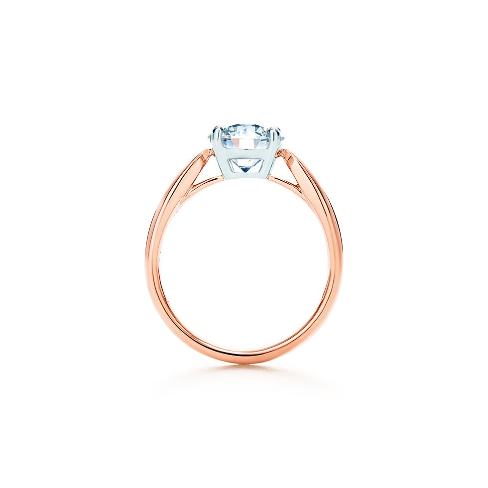 Tiffany Gold Ring With Diamonds