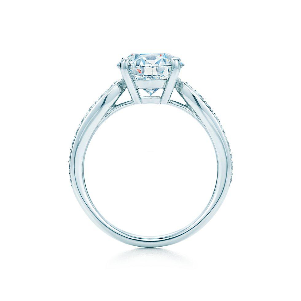 Tiffany Harmony With Bead Set Band Engagement Rings Tiffany Co