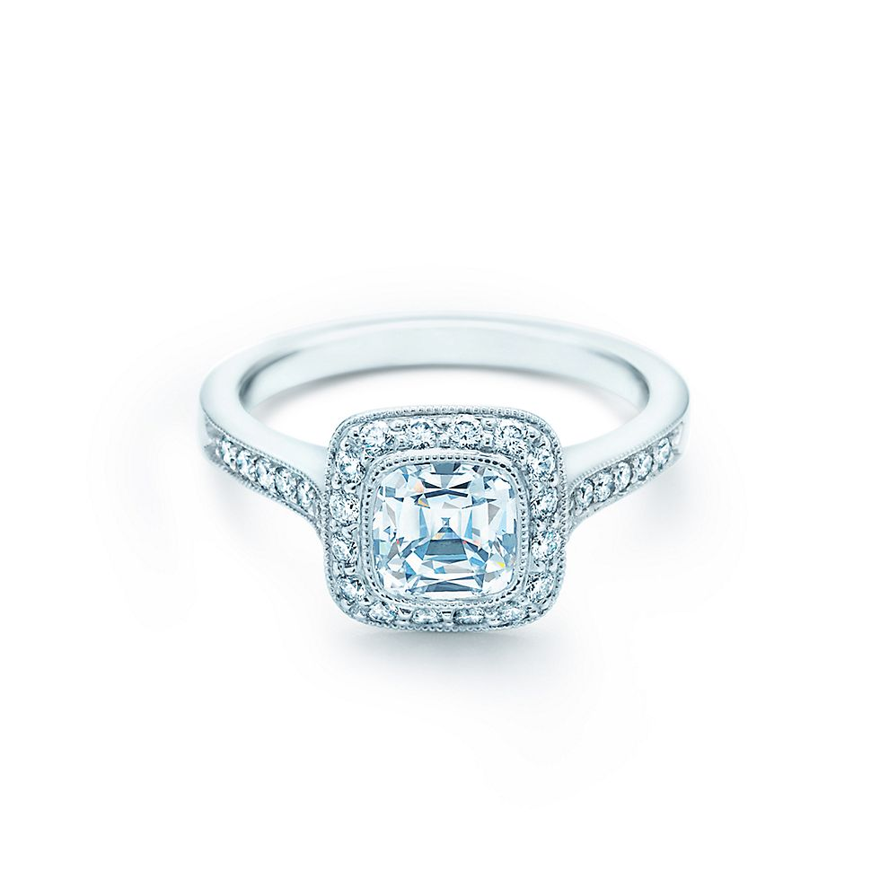 Tiffany Legacy En Ement Ring With Diamond Band
