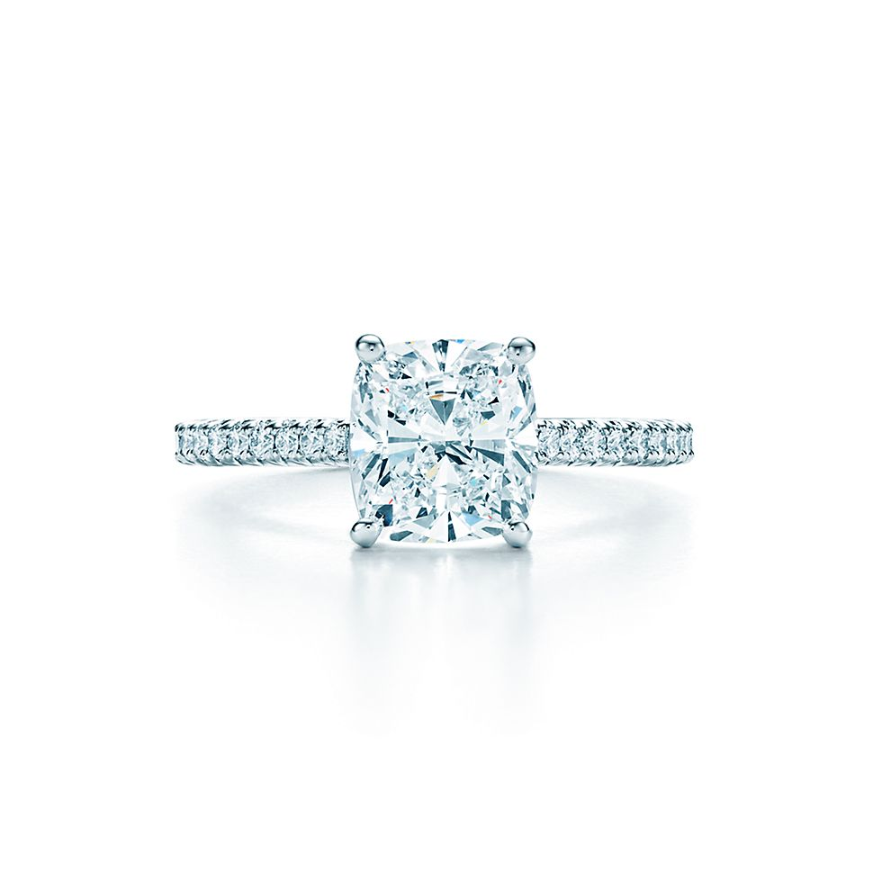 diamond engagement square setting usa in ring rings round