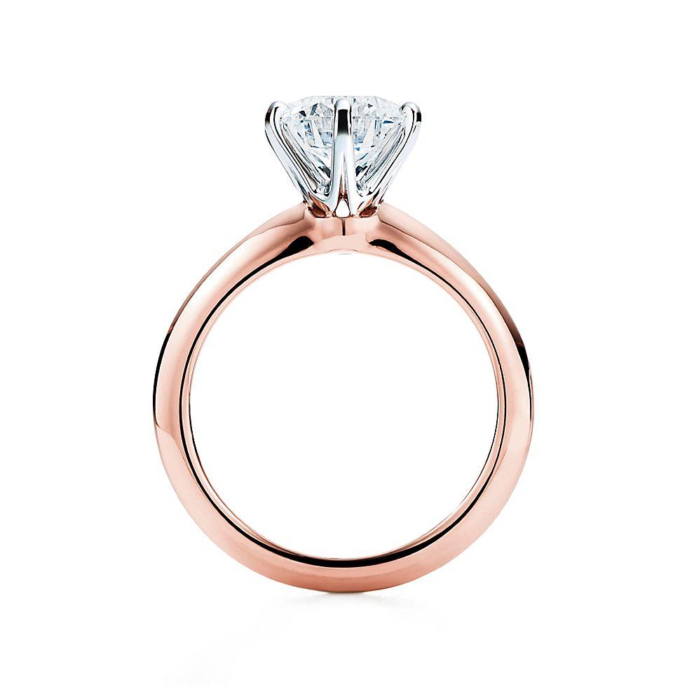 Tiffany Setting In 18 Karat Rosegold Verlobungsringe Tiffany Co