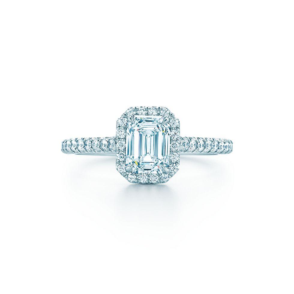 Tiffany Soleste Emerald Cut Verlobungsringe Tiffany Co