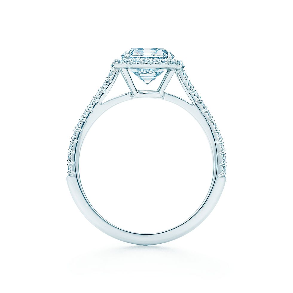 Emerald Cut Diamond En Ement Rings Tiffany Soleste En Ement Rings Tiffany Co