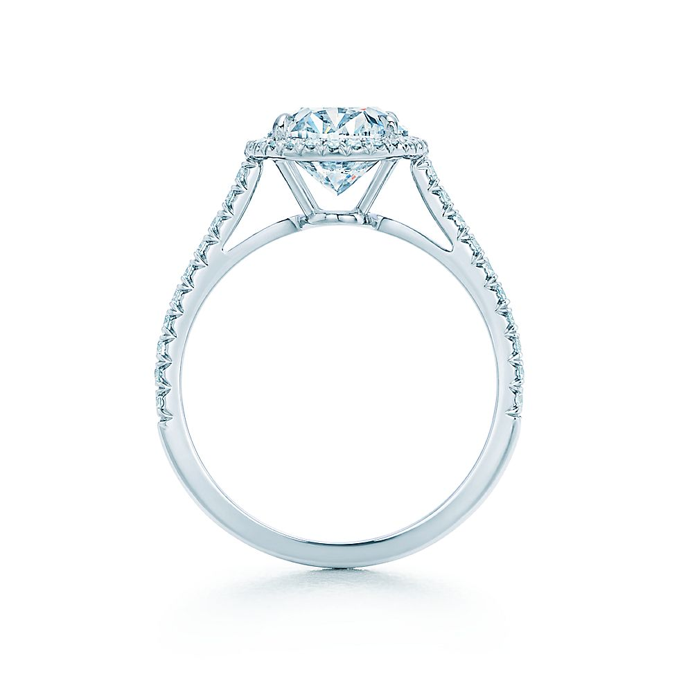 Oval Halo Enement Rings | Oval Cut Halo Diamond With Diamond Band Engagement Rings Tiffany Co
