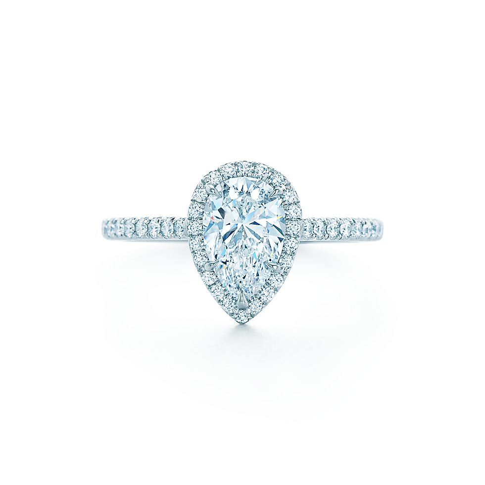 to of setting platinum attachment gallery shaped pear engagement with rings diamond regard ring photo settings