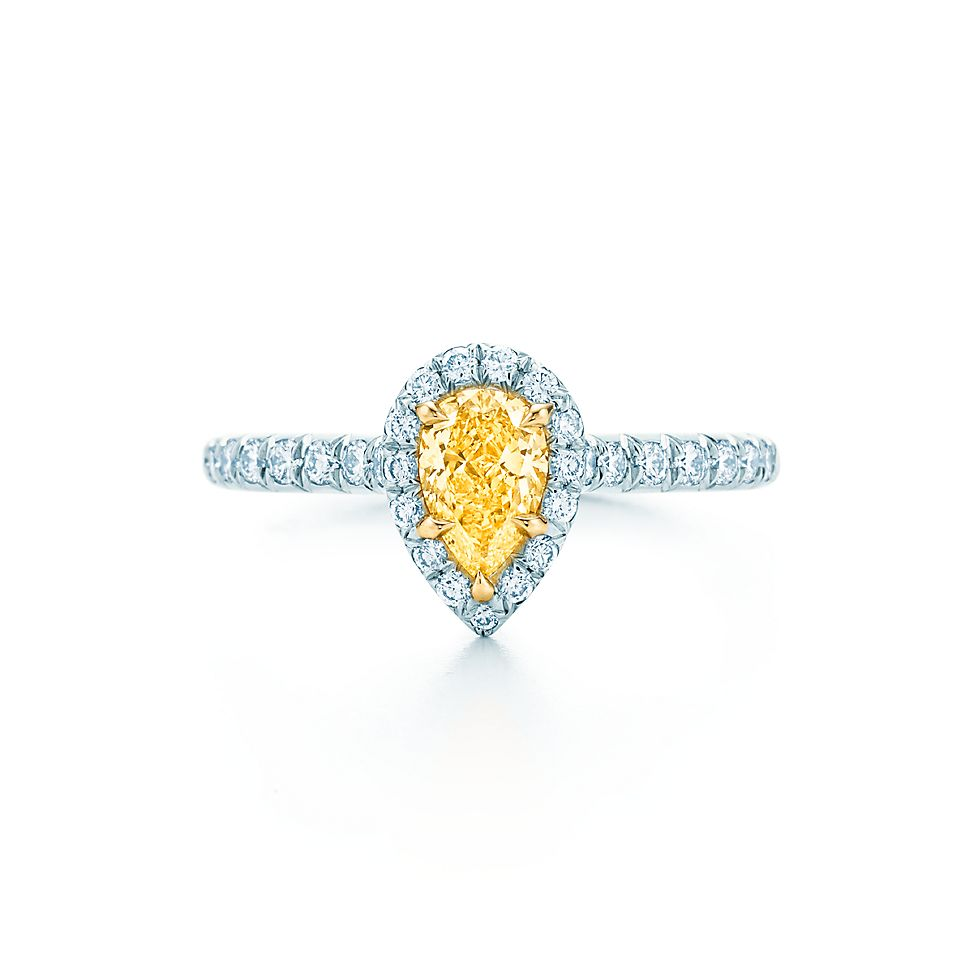 Diamond Yellow engagement rings tiffany advise to wear for autumn in 2019