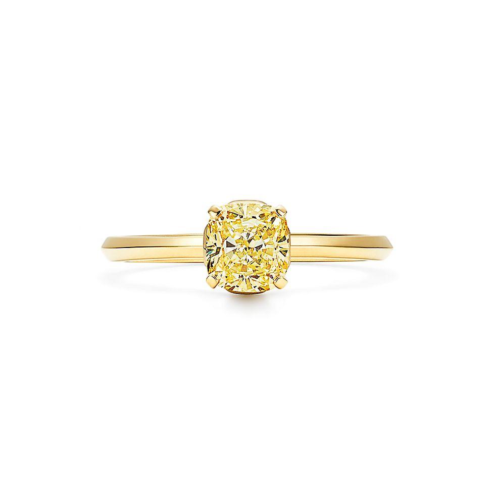 2019 year looks- Diamond Yellow engagement rings tiffany