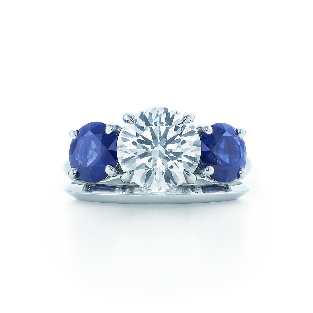 platinum ct cut square ceylon natural ring diamond sapphire engagement