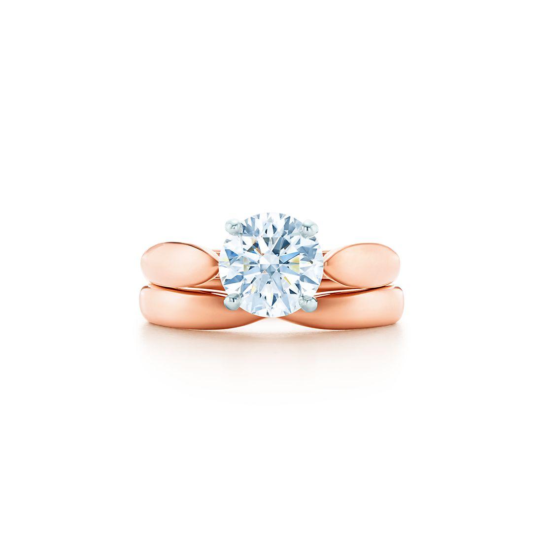 Tiffany Harmony 18k Rose Gold Diamond Engagement Rings Tiffany Co