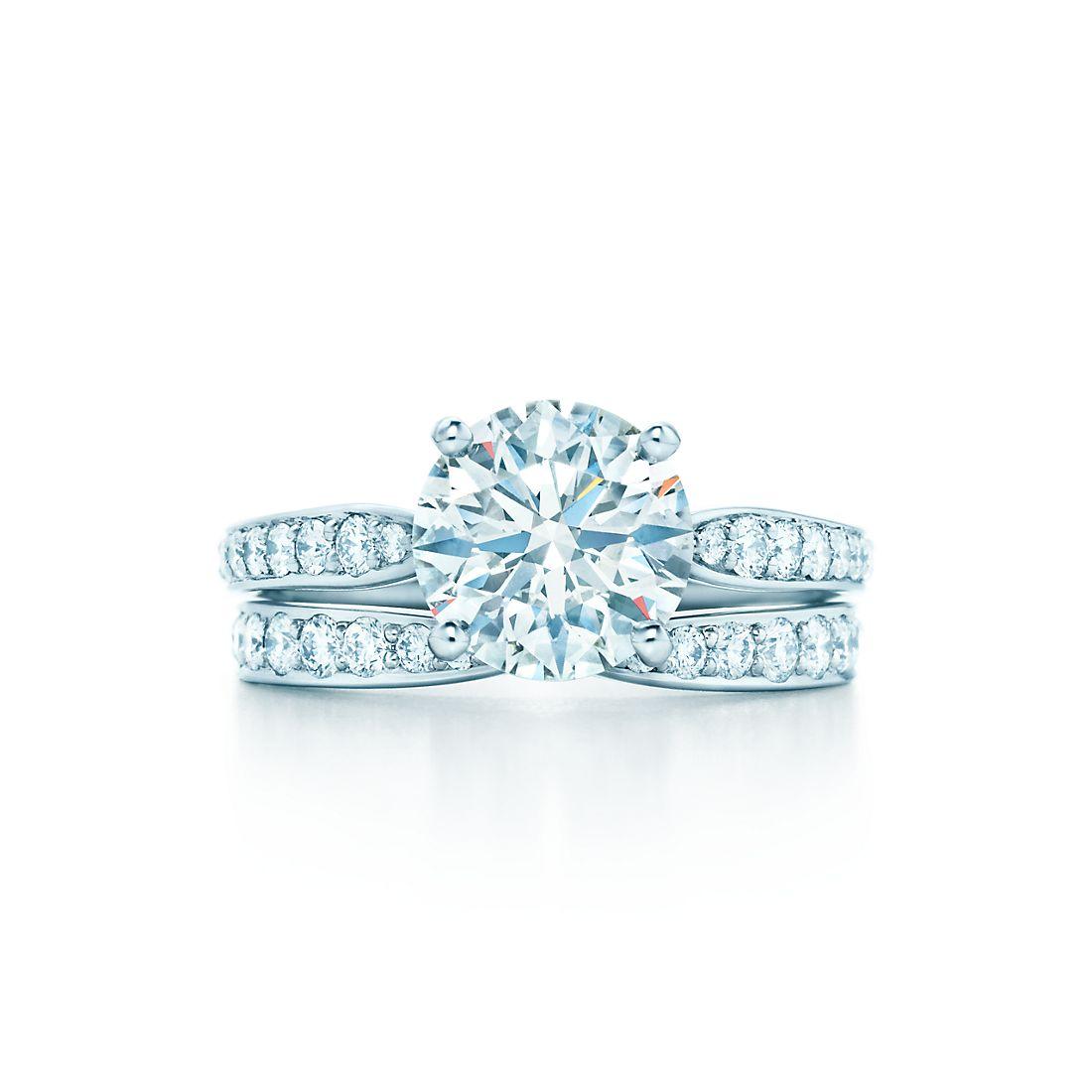 1 99 Carats Shown With Tiffany Harmony Bead Set Diamond Ring