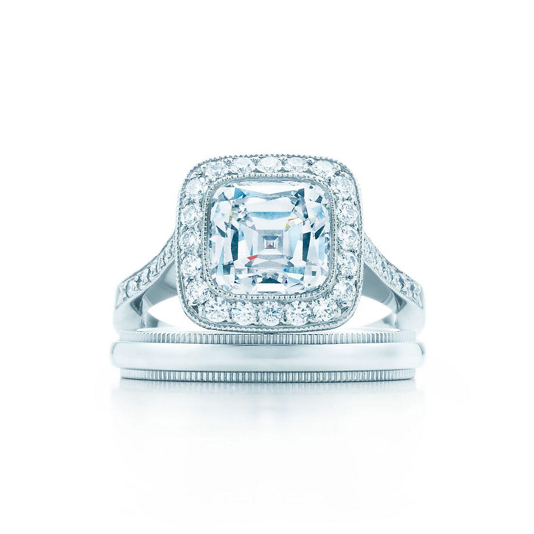 Tiffany Legacy Platinum Diamond Band Engagement Rings Tiffany Co
