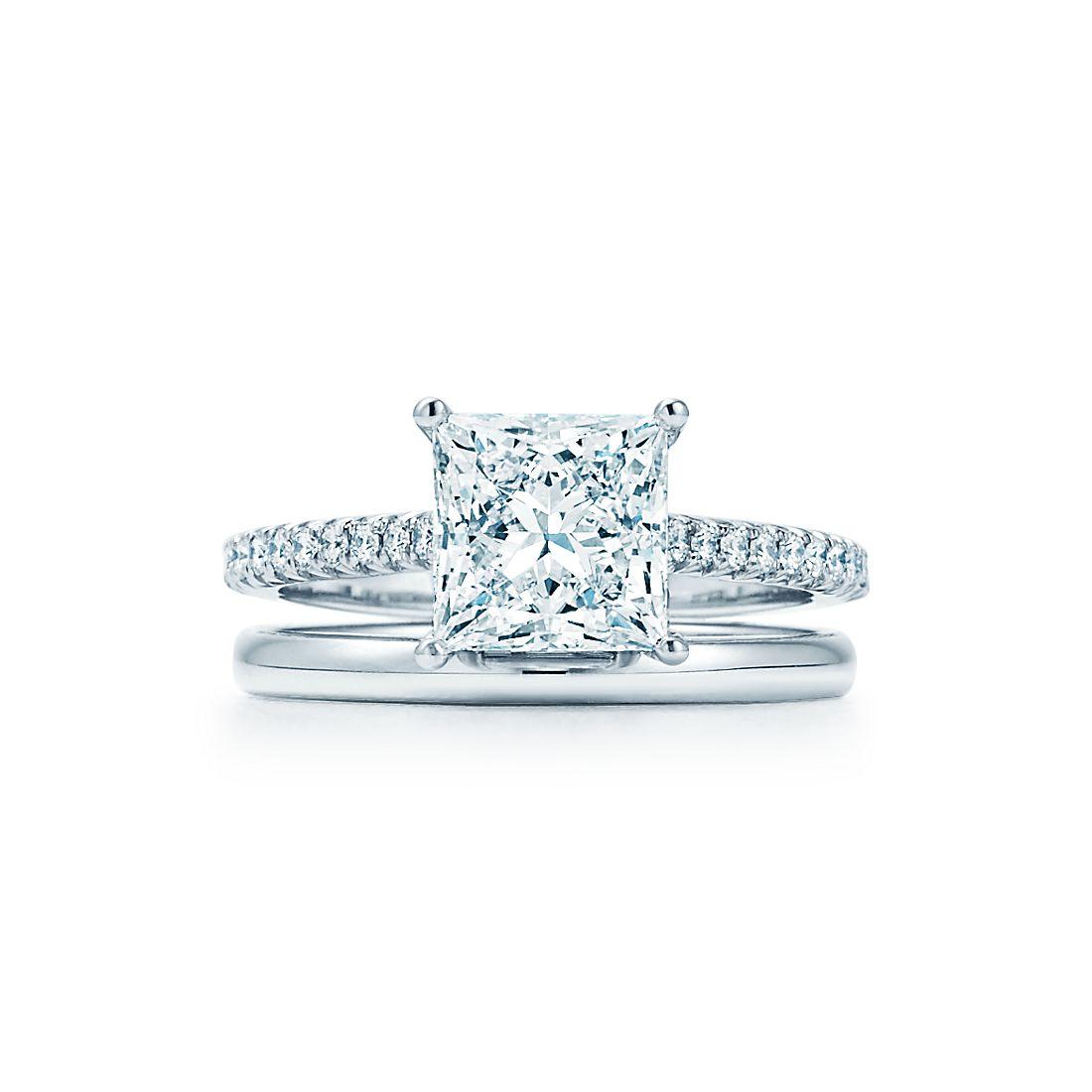 083b88288bc04 Tiffany Novo®  Princess Cut Engagement Ring with Pavé-set diamond ...
