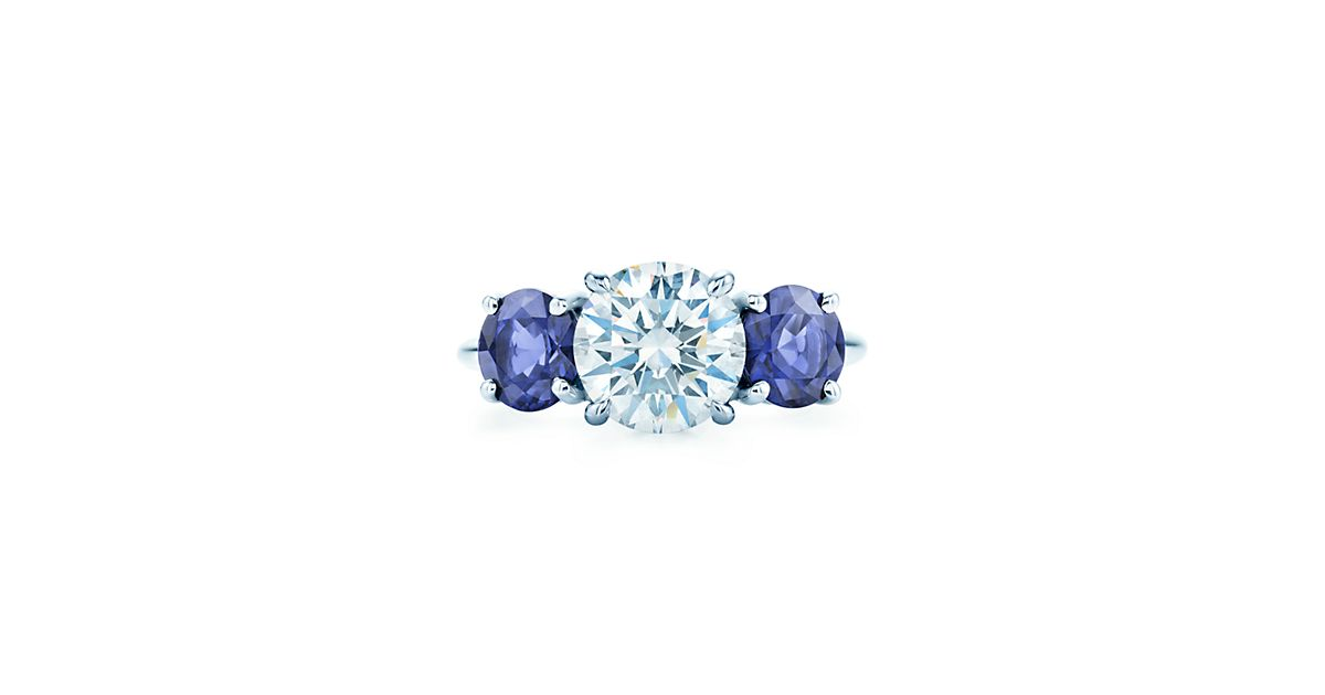 Three Stone Sapphire Engagement Rings Tiffany Amp Co