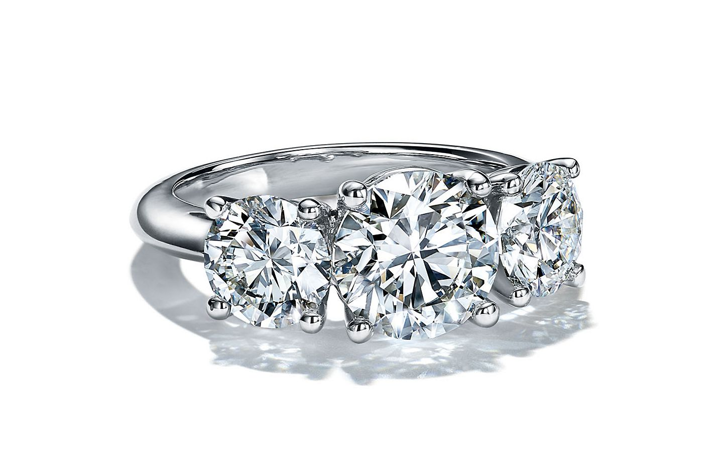 Tiffany & Co. Three Stone Engagement Rings