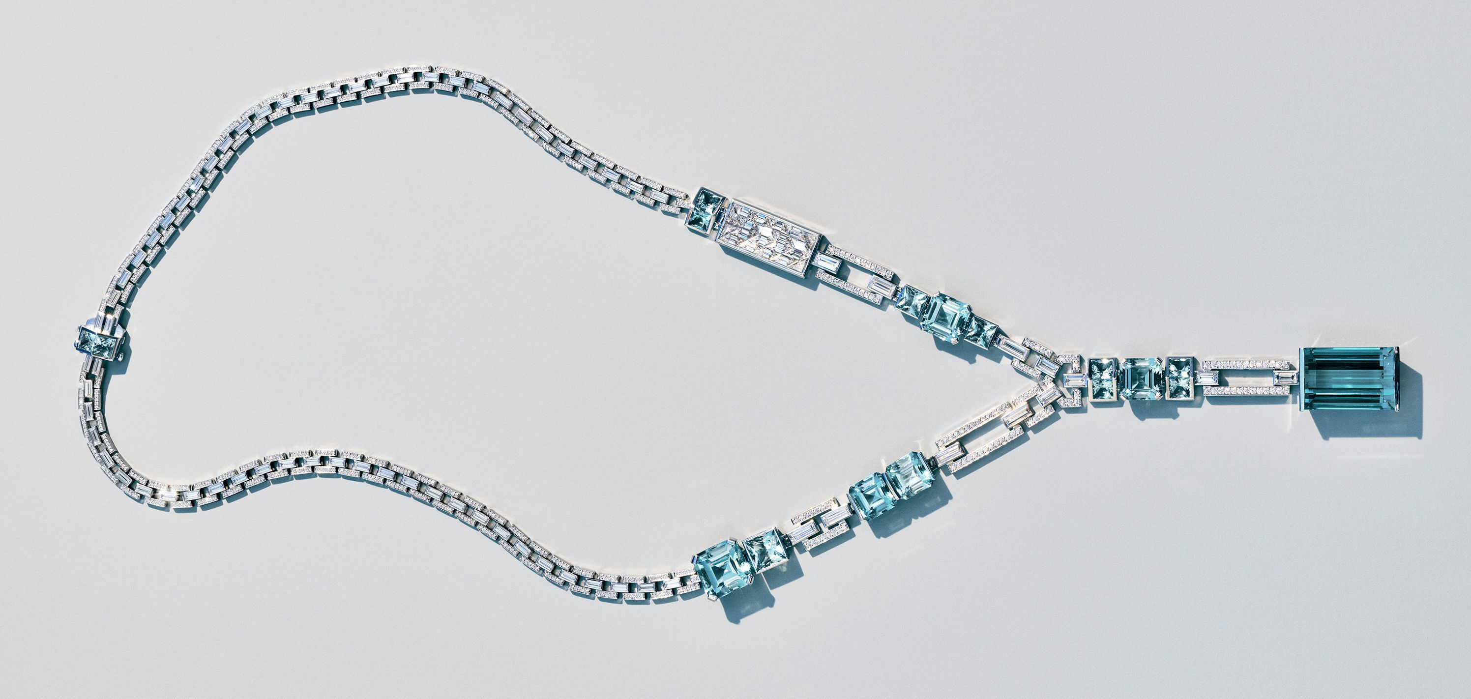 5dd2b3f255a4 Tiffany   Co. Blue Book 2018 Mixed-cut Aquamarine Necklace