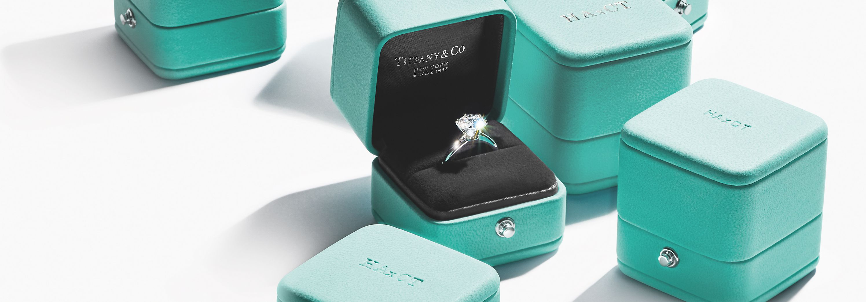 Ver anillos de compromiso de diamantes de Tiffany & Co.