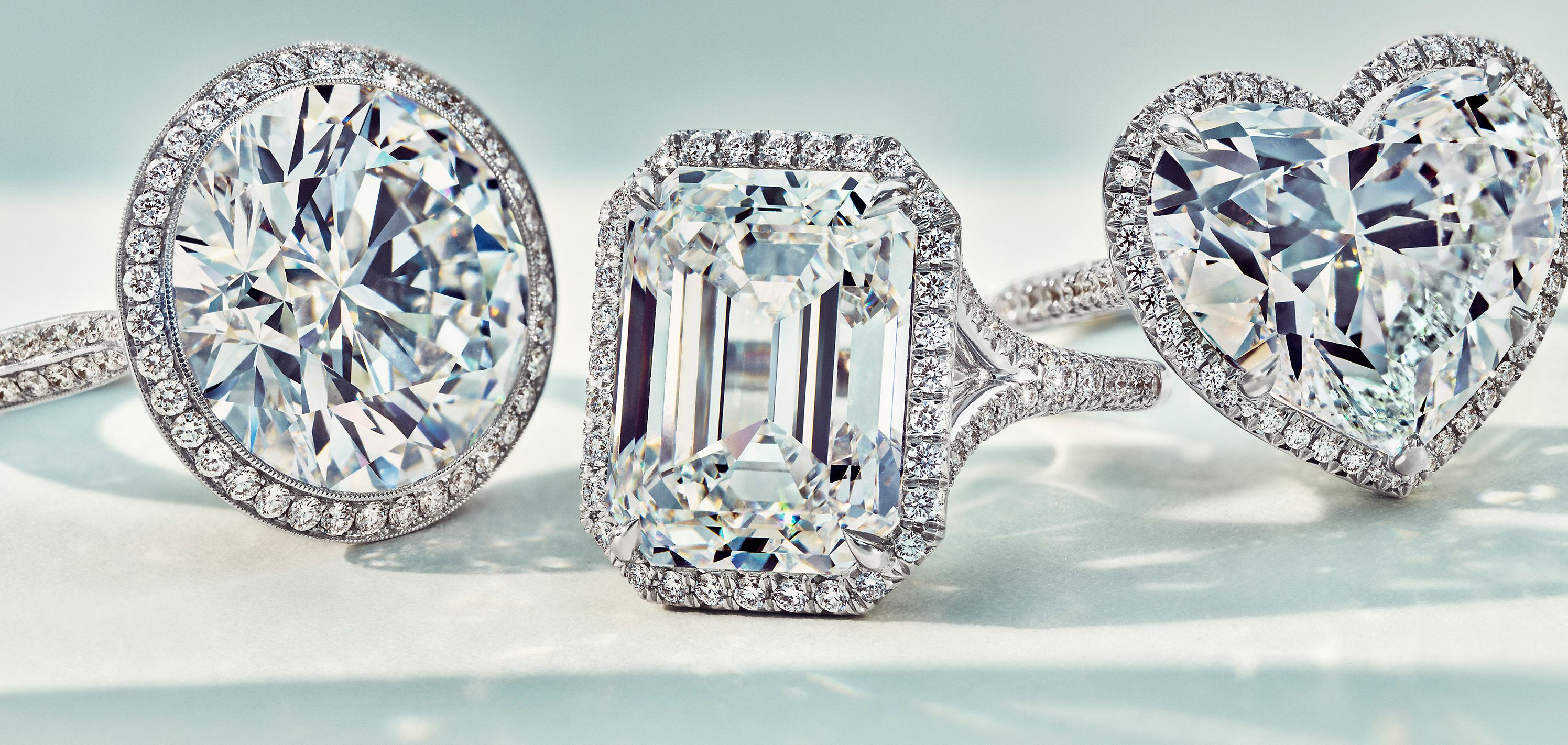 Grandes diamantes incolores da Tiffany & Co.