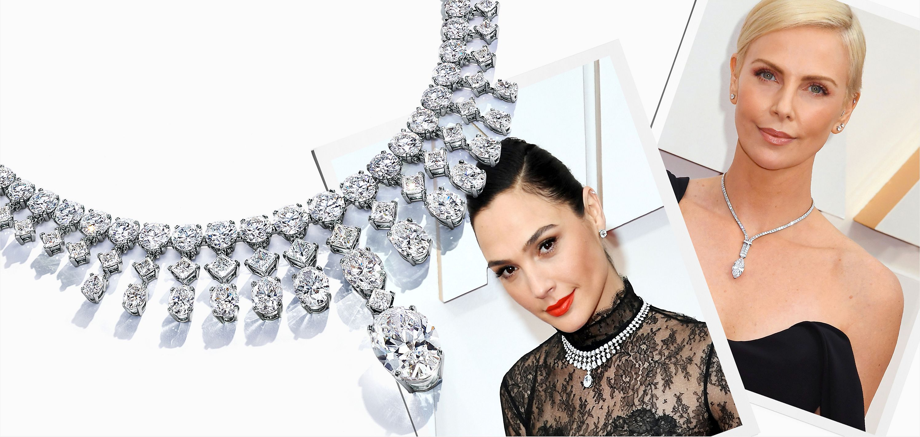 Gal Gadot and Charlize Theron Wear Tiffany on the Oscars® Red Carpet