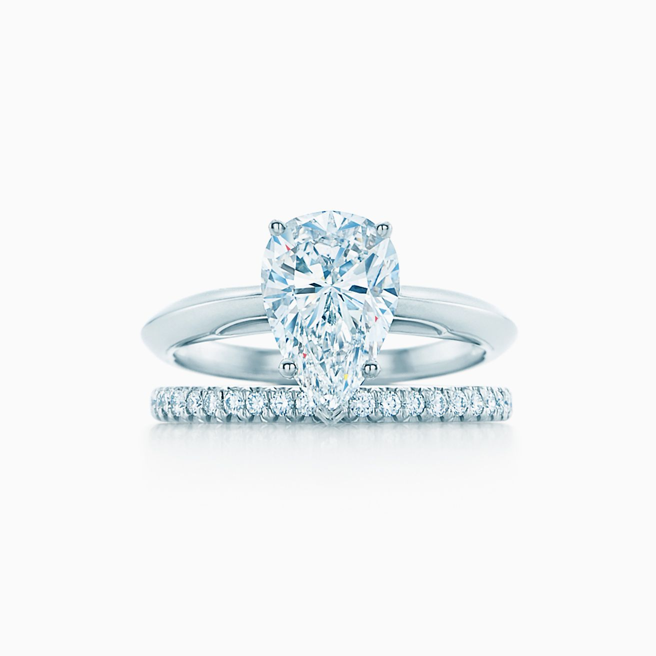 Pear Shaped Diamond Engagement Ring In Platinum Tiffany Co