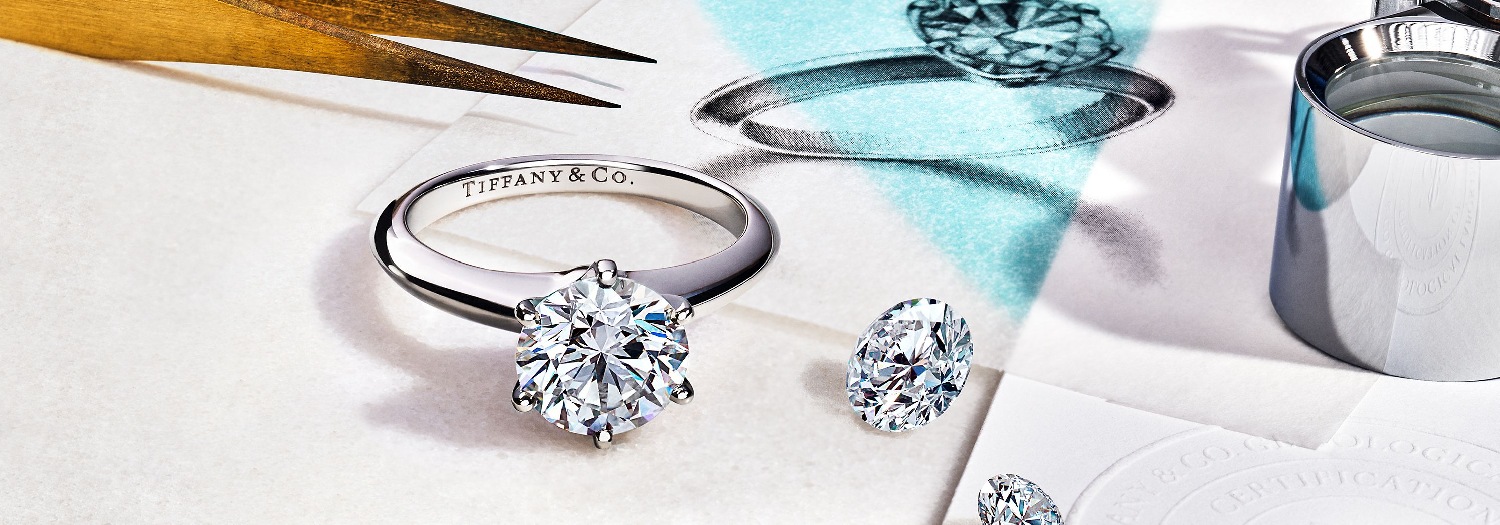 Tiffany® Setting 鉑金訂情戒指