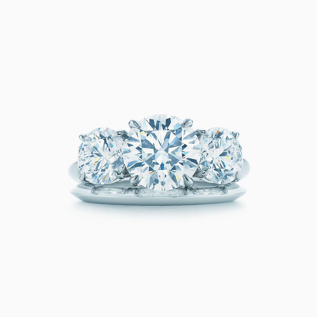 e7e10515a1bd8 Tiffany Three Stone Engagement Ring in Platinum