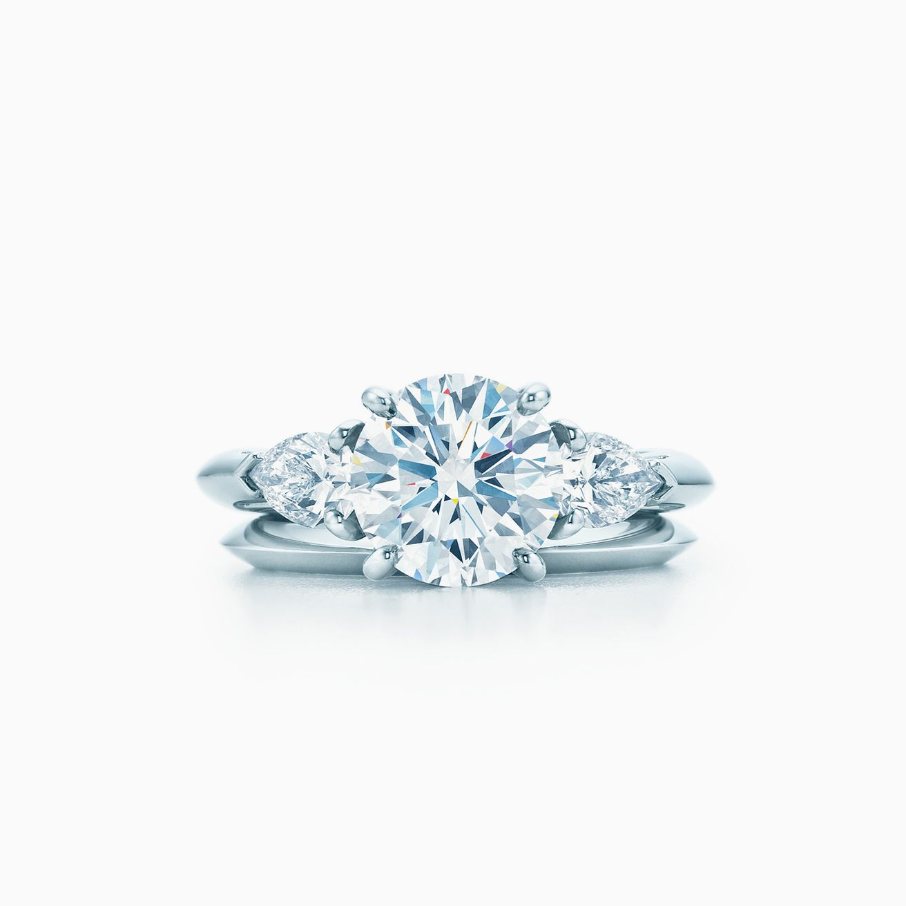 6bfd1cee1 Click the wedding bands below to see how each pairs with your engagement  ring. Tiffany Wedding Band