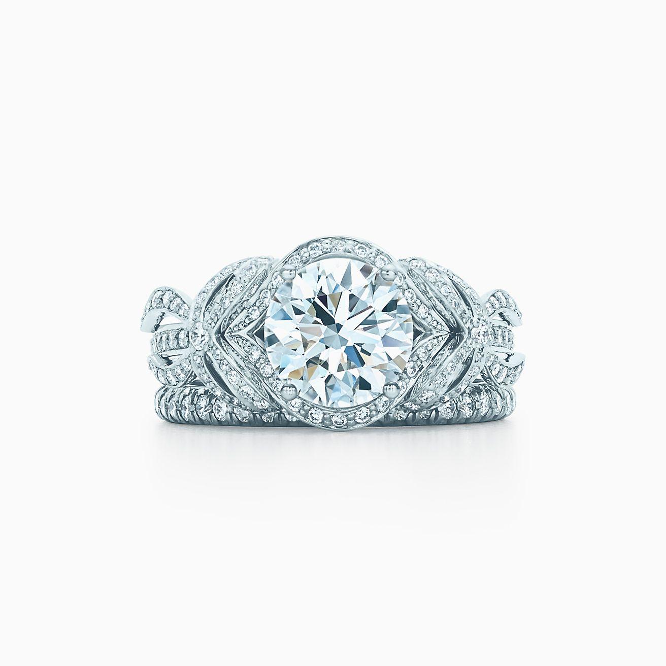 65778890cb25c Tiffany Bow Ribbon Engagement Ring in Platinum