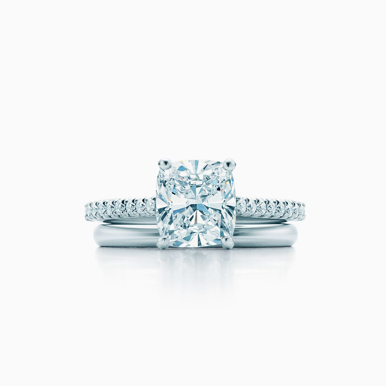 Cushion Cut Engagement Rings Tiffany Foto Ring And Wallpaper