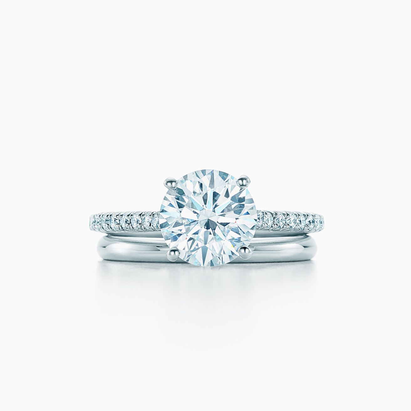 Tiffany Novo 174 Round Brilliant Engagement Ring With A Pav 233