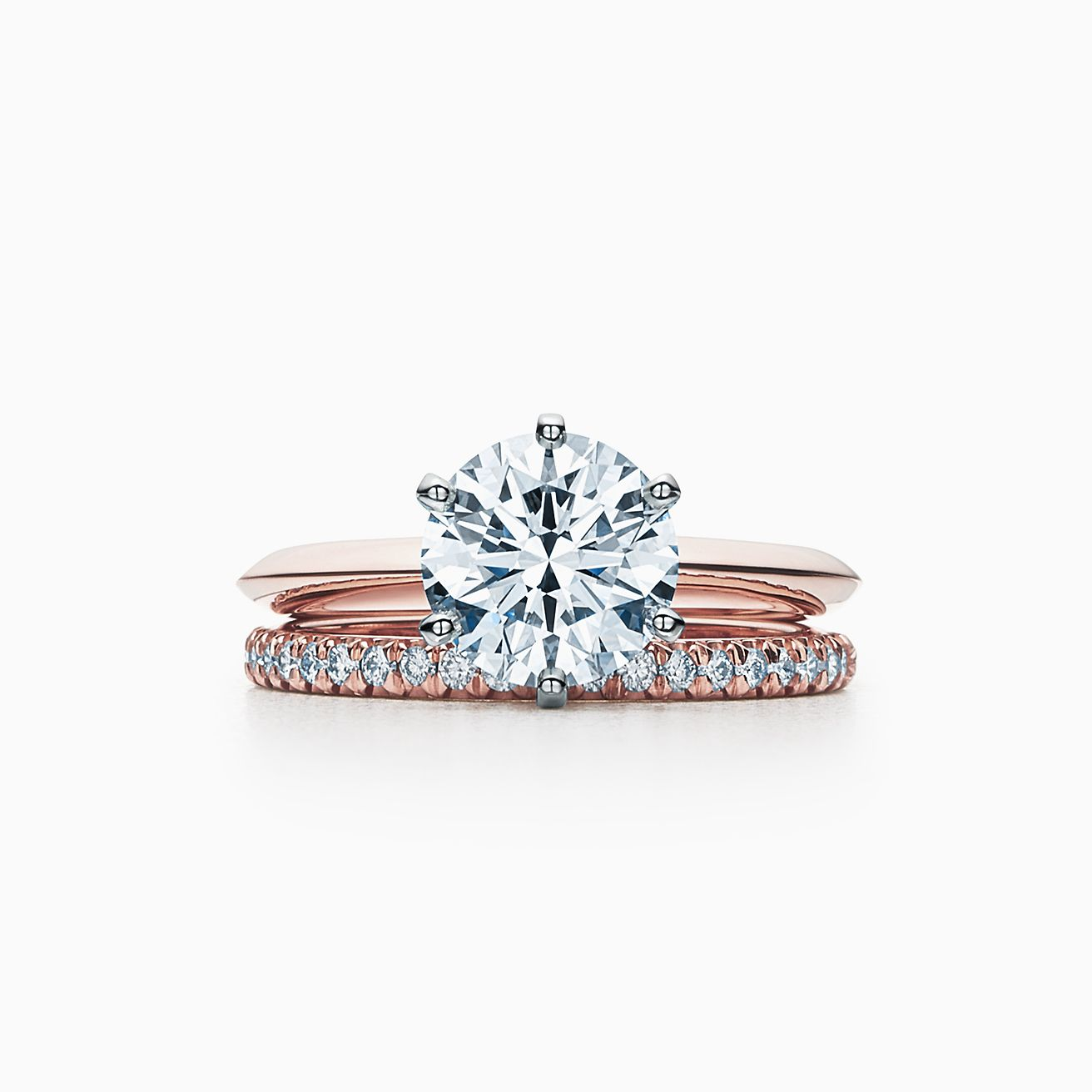 Rose Gold Wedding Ring.The Tiffany Setting Engagement Ring In 18k Rose Gold
