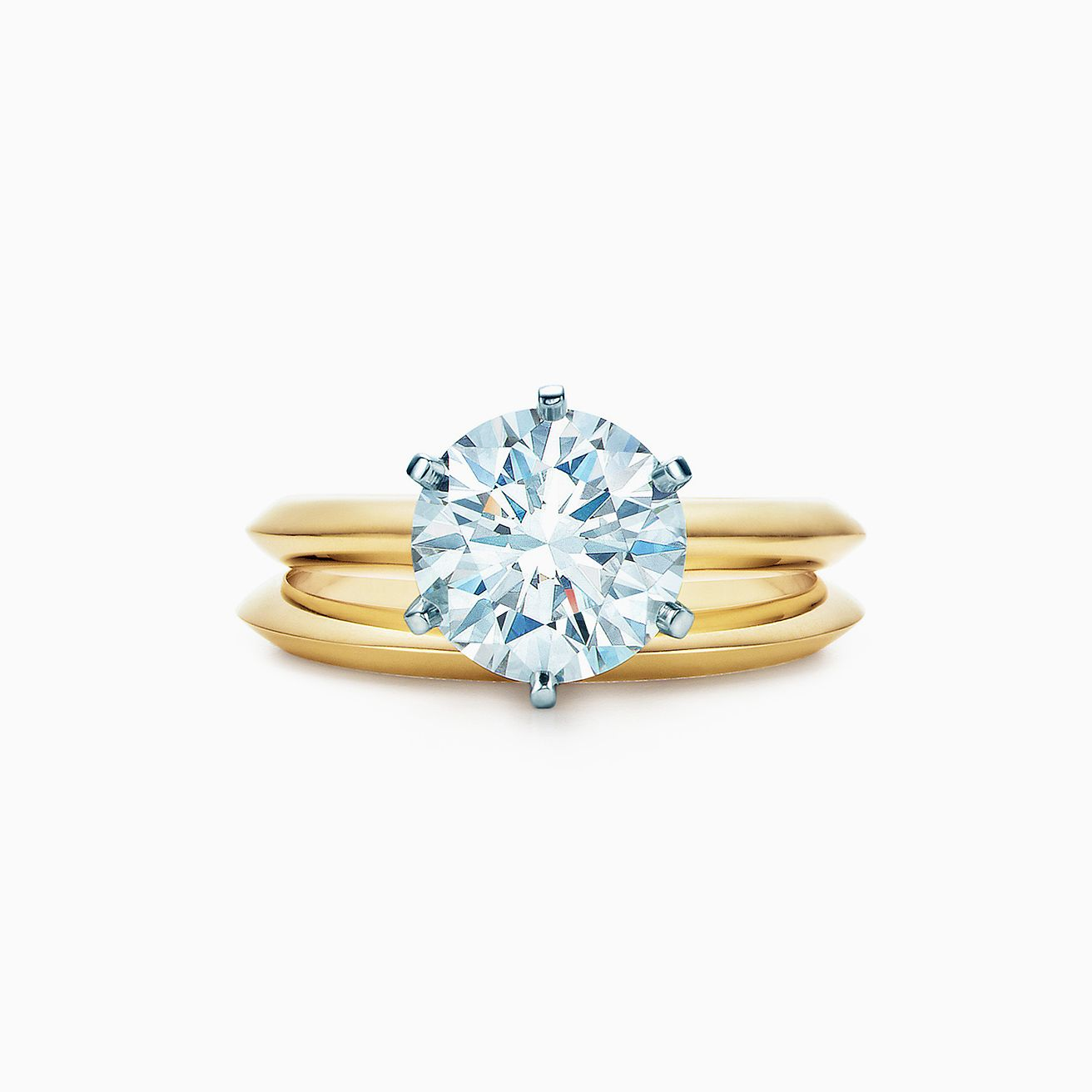 5ffa96efd8766 The Tiffany® Setting Engagement Ring in 18k Yellow Gold